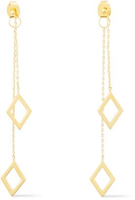 Noir 14-karat Gold-plated Earrings