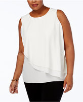 Charter Club Plus Size Layered-Look Top, Created for Macy's