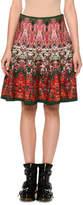 Alexander McQueen Floral Jacquard A-Line Skirt