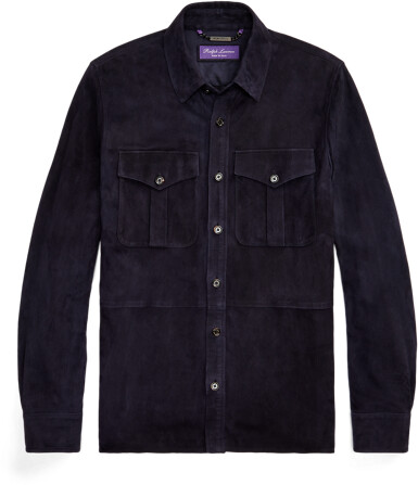 Thumbnail for your product : Ralph Lauren Suede Overshirt