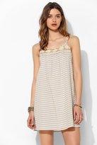 BDG Crochet-Trim Stripe Swing Dress