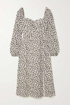 Reformation + Net Sustain Shelby Animal-print Georgette Midi Dress - Off-white