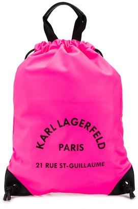 Karl Lagerfeld Paris Rue St Guillaume drawstring backpack