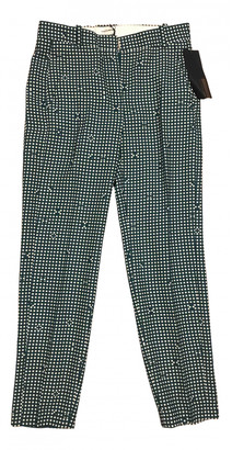 Carven Green Polyester Trousers