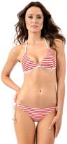 Voda Swim Scarlet Stripe String Bikini Bottom
