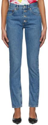 Balenciaga Indigo Tube Jeans