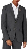 Topman Men's Skinny Fit Linen Suit Jacket