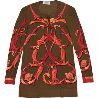 Hermes Khaki Silk Top for Women Vintage