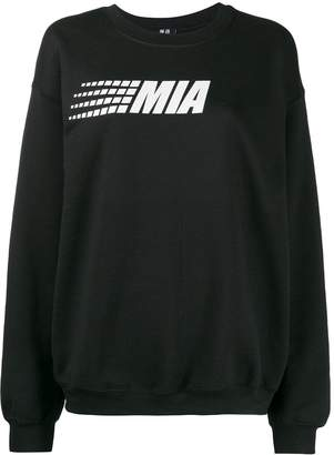 Mia-iam logo print relaxed-fit sweatshirt