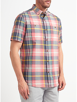 John Lewis Large Scale Check Short Sleeve Shirt, Multi
