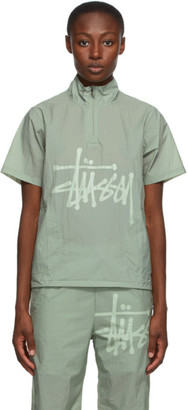 Stussy Green Warm Up Shell Short Sleeve Shirt