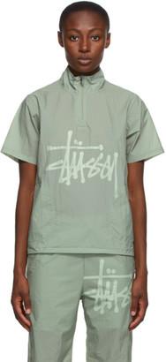 Stussy Green Warm Up Shell Short Sleeve Shirt
