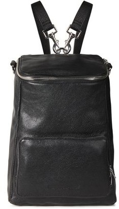 McQ Convertible Medium Pebbled-leather Backpack