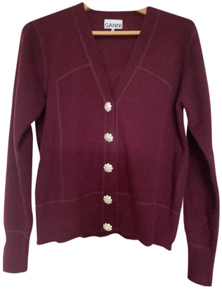 Ganni Burgundy Cashmere Knitwear