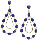 Tresor Collection - 18k Yellow Gold Earrings with Lapis Lazuli and Champagne Diamond