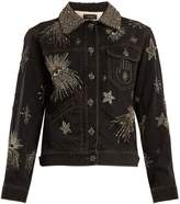 Isabel Marant Eloise crystal-embellished denim jacket