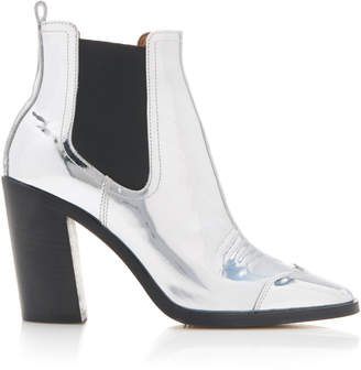 Off-White Off White C/O Virgil Abloh Metallic Leather Ankle Boots
