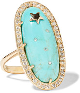 Andrea Fohrman Sleeping Beauty 18-karat Gold, Turquoise And Diamond Ring - 7