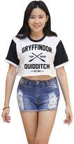 Me Women's Gryffindor Quidditch Harry Potter Crop T-shirt
