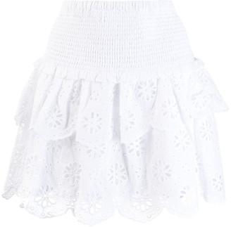 MICHAEL Michael Kors Ruffled Broderie Anglaise Skirt