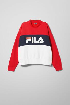 Weekday Leah Crew Sweatshirt - Red
