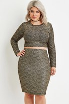 Forever 21 Plus Size Metallic-Flecked Crop Top