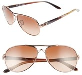 Oakley Women's Tie Breaker 55Mm Sunglasses - Rose Gold/ Vr50 Brown