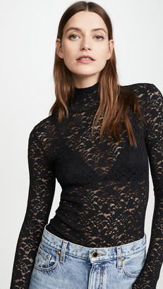 Enza Costa Lace Turtleneck with Back Zip