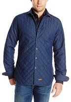 Stone Rose Men's Quilted Twill Long-Sleeve Overshirt