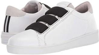 Blackstone Low Sneaker 3 Strap - RL82 (White/Black) Women's Shoes