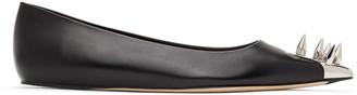 Alexander McQueen Black Spike Toe Ballerina Flats