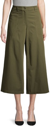 Lafayette 148 New York Wide-Leg Stretch Cropped Pants