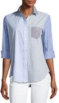 Finley Mixed Stripe Button-Front Shirt