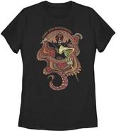 Licensed Character Juniors' Disney's Aladdin Jafar Ornate Pattern Portrait Tee Shirt