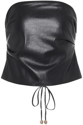 Nanushka Dalhia faux leather bandeau top
