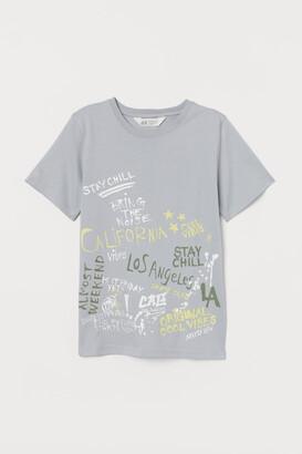 H&M Printed T-shirt - Gray