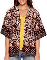 Liz Claiborne 3/4-Sleeve Print Kimono