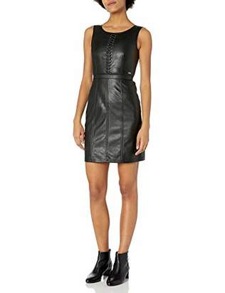 Armani Exchange A|X Women's Short Sleeveless Leather Dress