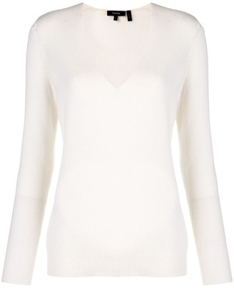 Theory cashmere Adrianna V-neck sweater