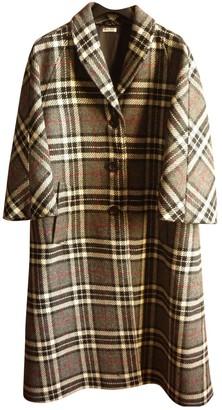 Miu Miu Multicolour Wool Coat for Women