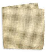 Armani Collezioni Stud Printed Silk Pocket Square