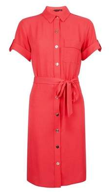 Dorothy Perkins Womens Pink Button Through Shirt Dress, Pink