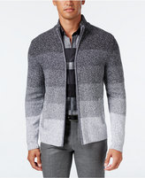 Alfani Men's Ombré Striped Sweater Jacket, Only at Macy's
