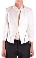 Elisabetta Franchi Women's White Polyamide Blazer.