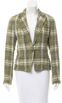 Dries Van Noten Plaid Notch-Lapel Blazer