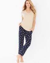 Soma Intimates Ankle Pants Pajama Set Dotty Lemon