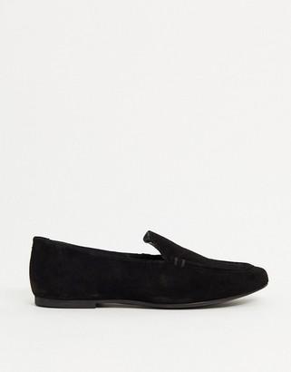 ASOS DESIGN Motion suede loafers in black