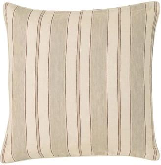 OKA Stringa Stripe Linen Cushion Cover, Large - Taupe