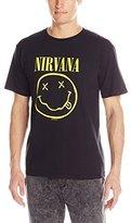 FEA Men's Nirvana Smiley Logo Double Sided T-Shirt