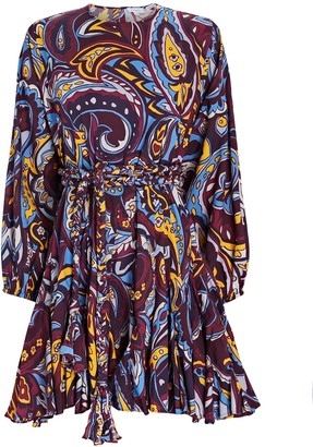Rhode Resort Ella Paisley Poplin Mini Dress